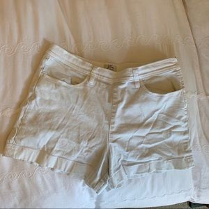 j crew white denim shorts